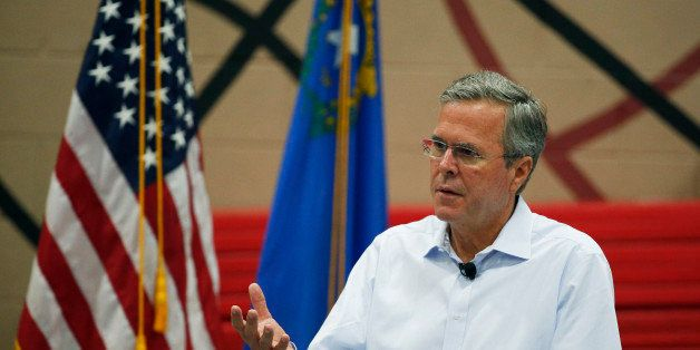 Republican presidential candidate, former Florida Gov. Jeb Bush speaks at a campaign event Saturday, June 27, 2015, in Hender