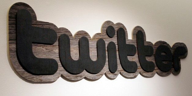 FILE - In this June 23, 2010 file photo, a Twitter sign hangs at the offices of Twitter Inc., in San Francisco. WikiLeaks sai