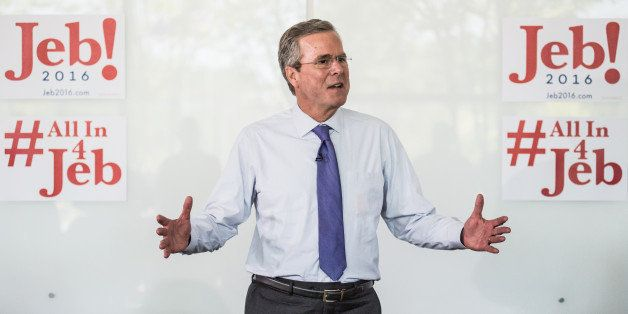 WEST COLUMBIA, SC - JUNE 29:  Republican presidential candidate and former Florida Gov. Jeb Bush answers questions from emplo