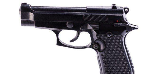 firearms gun on a white background