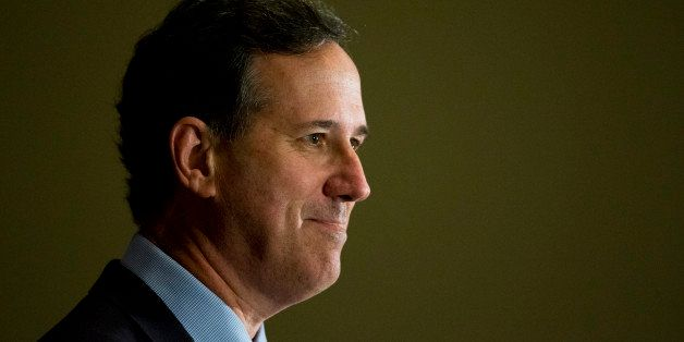Republican presidential candidate, former Pennsylvania Sen. Rick Santorum speaks Friday, June 19, 2015, at the Northeast Repu