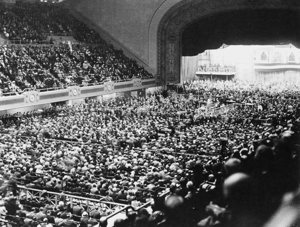 The crowd at the 1960 Democratic National Convention in Los Angeles on July 13, 1960.