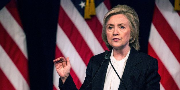 NEW YORK, NY - JULY 13:  Democratic presidential candidate Hillary Clinton speaks at The New School on July 13, 2015 in New Y