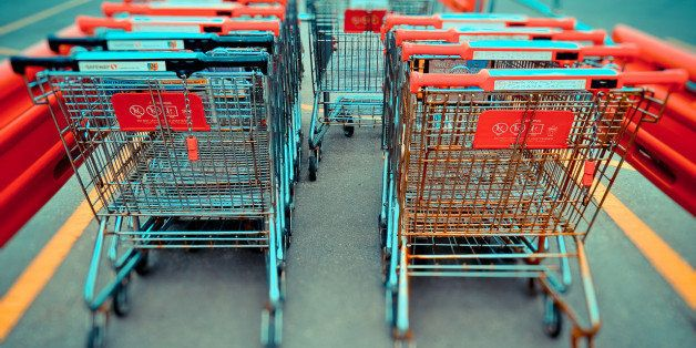 I chose my shopping cart from the left row.