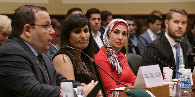 WASHINGTON, DC - JUNE 02:  (L-R) Ali Rezaian, brother of Washington Post Tehran Bureau Chief Jason Rezaian, Nagameh Abedini,