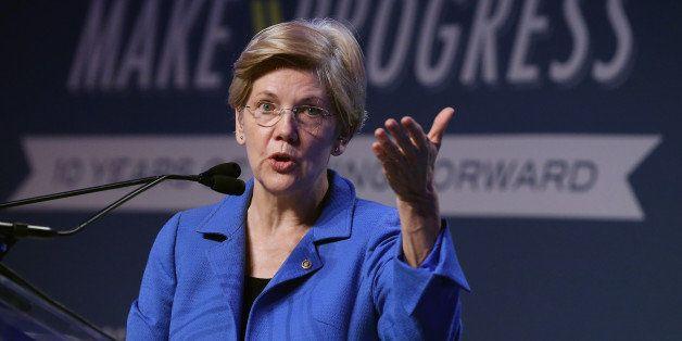 WASHINGTON, DC - JULY 16:  U.S. Sen. Elizabeth Warren (D-MA) addresses the 10th annual Make Progress National Summit at the W