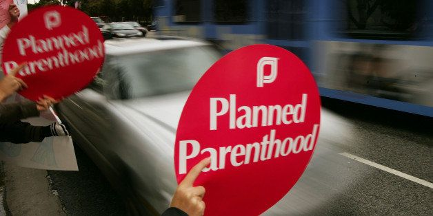LOS ANGELES, CA - JANUARY 22:  Pro-choice supporters and members of Planned Parenthood rally to mark the 35th anniversary of