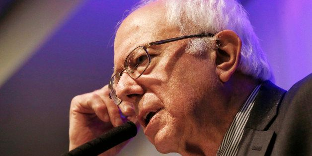 Democratic presidential candidate, Sen. Bernie Sanders, I-Vt. speaks during a town hall meeting, Thursday, July 2, 2015, in R
