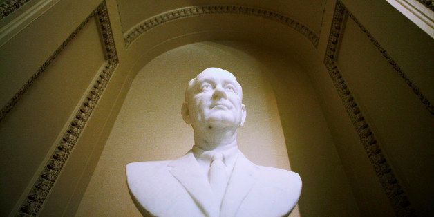 WASHINGTON - MAY 21: A bust of President Lyndon Johnson is seen in the U.S. Capitol prior to a Capitol Hill luncheon commemor