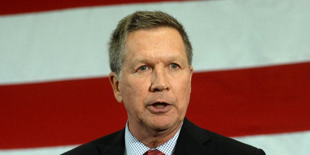 NASHUA, NH - APRIL 18: Ohio Gov. John Kasich speaks at the First in the Nation Republican Leadership Summit April 18, 2015 in