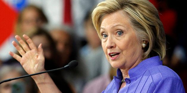 Democratic presidential candidate Hillary Rodham Clinton announces her college affordability plan, Monday, Aug. 10, 2015, at