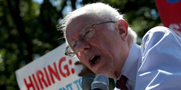 WASHINGTON, DC - JULY 22:  Democratic presidential candidate and U.S. Sen. Bernie Sanders (I-VT) speaks at a Capitol Hill ral