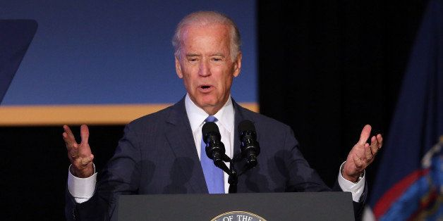 NEW YORK, NY - JULY 27: Vice President Joe Biden speaks at an event attended by New York Gov. Andrew Cuomo to unveil plans fo