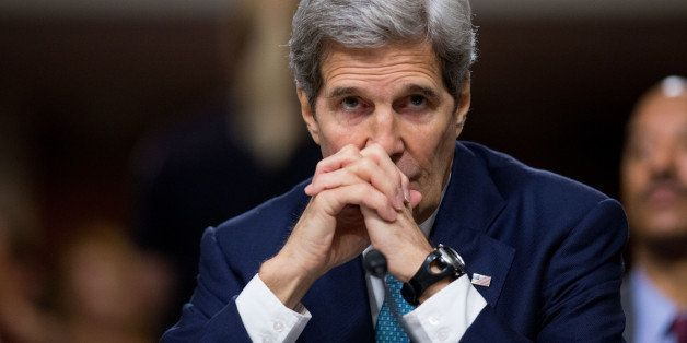 Secretary of State John Kerry testifies along with Secretary of Energy Ernest Moniz, and Secretary of Treasury Jack Lew at a