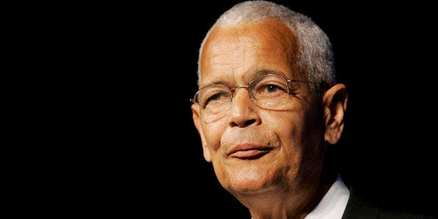 NAACP Chairman Julian Bond addresses the civil rights organization's annual convention in Detroit, Sunday, July 8, 2007. (AP