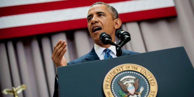 U.S. President Barack Obama speaks at American University's School of International Service in Washington, D.C., U.S., on Wed