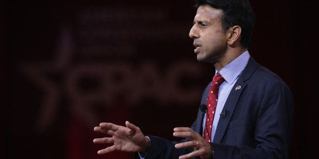 NATIONAL HARBOR, MD - FEBRUARY 26:  Louisiana Gov. Bobby Jindal addresses the 42nd annual Conservative Political Action Confe