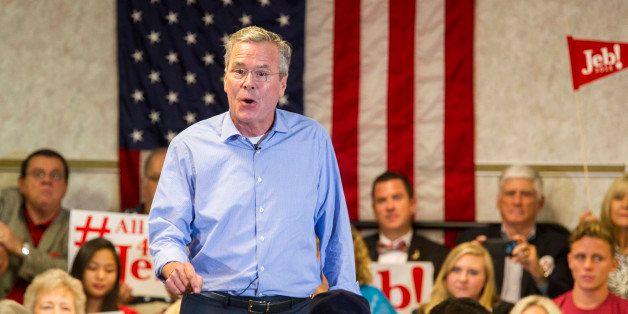 Republican presidential candidate, former Florida Gov. Jeb Bush, speaks at the Pensacola Bay Center in Pensacola, Fla., Wedne