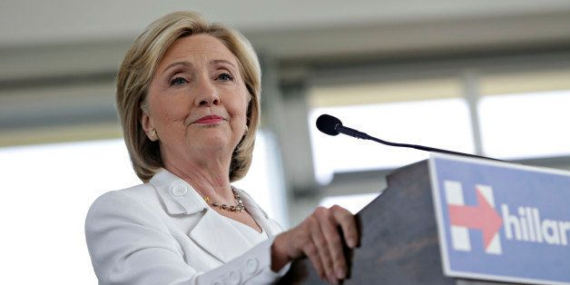 Hillary Clinton, former U.S. secretary of state and 2016 Democratic presidential candidate, pauses while speaking during a ne