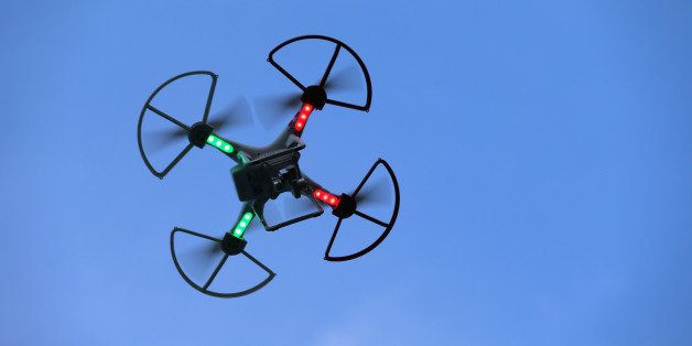 OLD BETHPAGE, NY - AUGUST 30:  A drone is flown for recreational purposes in the sky above Old Bethpage, New York on August 3
