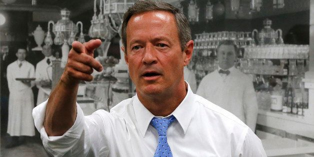 Democratic presidential candidate, former Maryland Gov. Martin O'Malley speaks at a meet and greet Sunday, Aug. 23, 2015, in