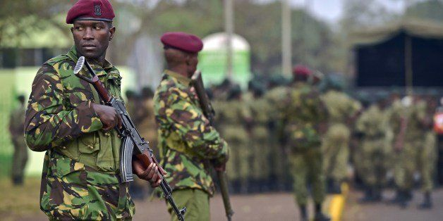 A soldier stands guard at the Moi International Sports centre in Nairobi on July 26, 2015. US President Barack Obama arrived