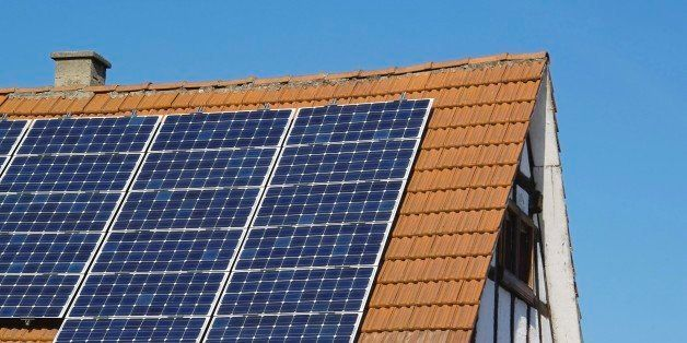 solar power on old timbered house