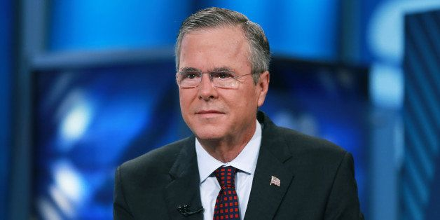 SQUAWK BOX -- Pictured: Jeb Bush, former Governor of Florida and 2016 presidential election candidate, in an interview on Sep