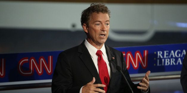 SIMI VALLEY, CA-SEPTEMBER. 16:  Republican presidential candidate Rand Paul take part in the presidential debates at the Reag