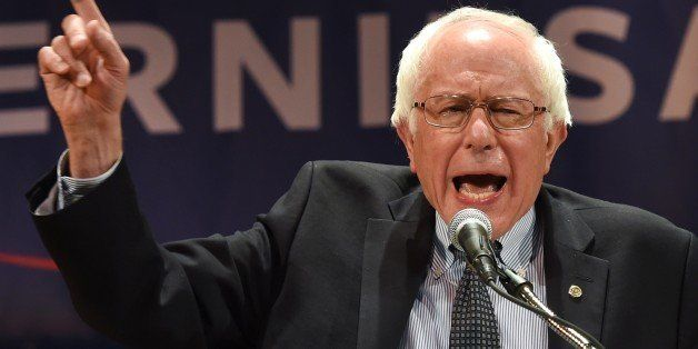 Democratic presidential hopeful Senator Bernie Sanders holds a fundraising reception at the Town Hall in New York September 18, 2015. AFP PHOTO / TIMOTHY A. CLARY (Photo credit should read TIMOTHY A. CLARY/AFP/Getty Images)