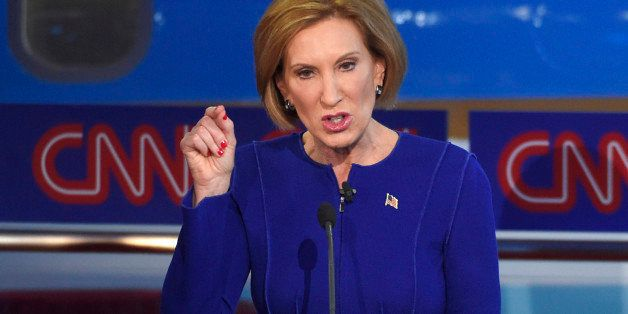 Republican presidential candidate, businesswoman Carly Fiorina speaks during the CNN Republican presidential debate at the Ro