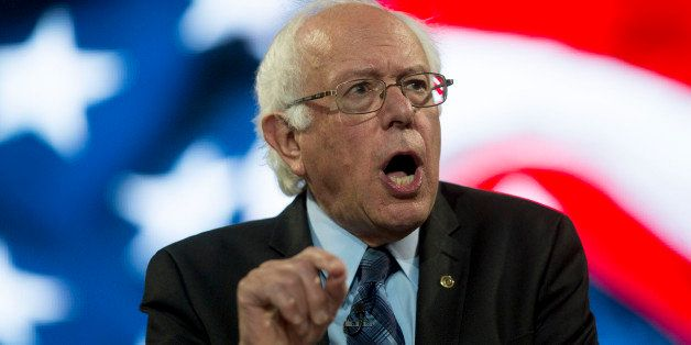 Senator Bernie Sanders, an independent from Vermont and 2016 Democratic presidential candidate, speaks during a Liberty Unive