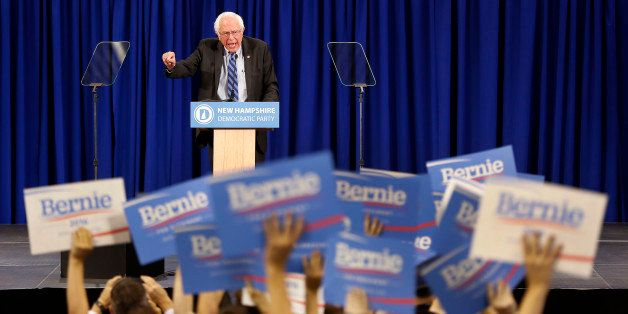 Supporters cheer as Democratic presidential candidate Sen. Bernie Sanders, I-Vt, speaks during the state's annual Democratic