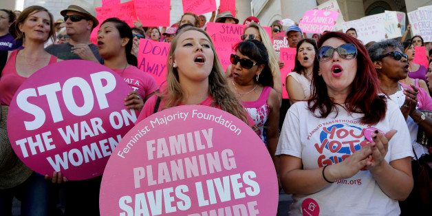 Planned Parenthood supporters rally for women's access to reproductive health care on ``National Pink Out Day'' at Los Angele