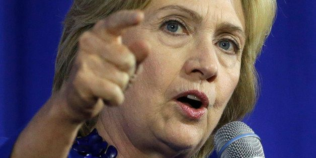 Democratic presidential candidate Hillary Rodham Clinton speaks during a forum on substance abuse, Thursday, Oct. 1, 2015, in
