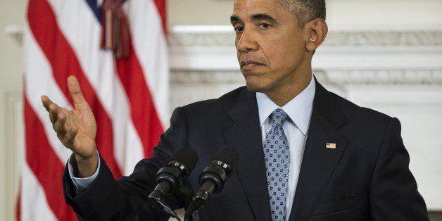WASHINGTON, USA - OCTOBER 2: US President Barak Obama speaks during a press conference at the White House in Washington, USA