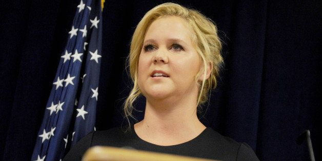 Photo by: Dennis Van Tine/STAR MAX/IPx 2015 8/3/15 Amy Schumer at a joint press conference announcing plans to crackdown on m