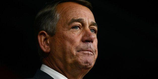 WASHINGTON, DC - SEPTEMBER 25: House Speaker John Boehner announces his resignation during a press conference on Capitol Hill