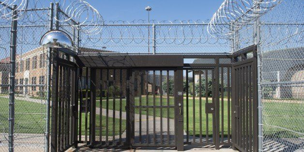 The entrance to El Reno Federal Correctional Institution in El Reno, Oklahoma, July 16, 2015, as US President Barack Obama ar