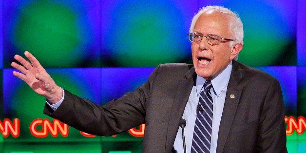 Sen. Bernie Sanders, I-Vt., speaks during a CNN Democratic presidential debate Tuesday, Oct. 13, 2015, in Las Vegas. (AP Phot