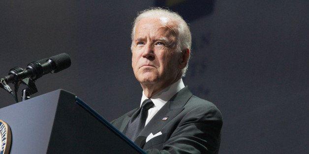 WASHINGTON, DC - OCTOBER 03:  U.S. Vice President Joe Biden speaks at the 19th Annual HRC National Dinner at Walter E. Washin