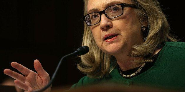 WASHINGTON, DC - JANUARY 23:  U.S. Secretary of State Hillary Clinton testifies before the Senate Foreign Relations Committee