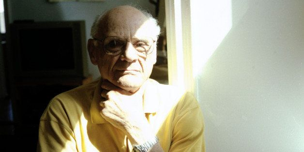 NEW YORK - MARCH 21:  Arthur Miller, screenplay writer and director, poses March 21, 2001 in his New York City apartment. (Ph