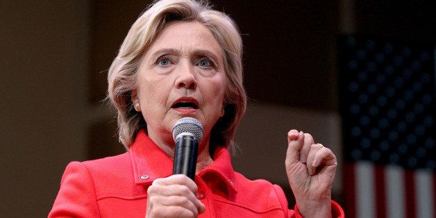 Democratic presidential candidate Hillary Rodham Clinton speaks during a town hall meeting Friday, Oct. 16, 2015, in Keene, N