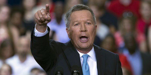 Ohio Gov. John Kasich announces he is running for the 2016 Republican party's nomination for president during a campaign ra