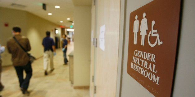 **ADVANCE FOR SUNDAY AUG. 26**A sign marks the entrance to a gender neutral restroom  at the University of Vermont in Burling
