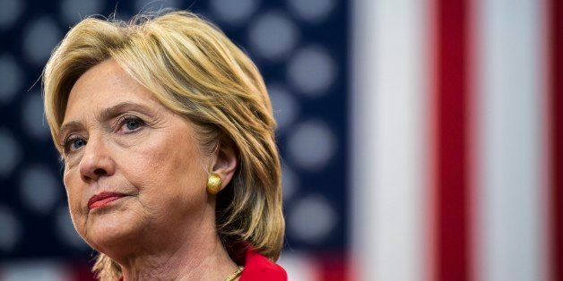 MANCHESTER, NEW HAMPSHIRE - OCTOBER 5:  Former Secretary of State Hillary Clinton speaks about gun violence and stricter gun