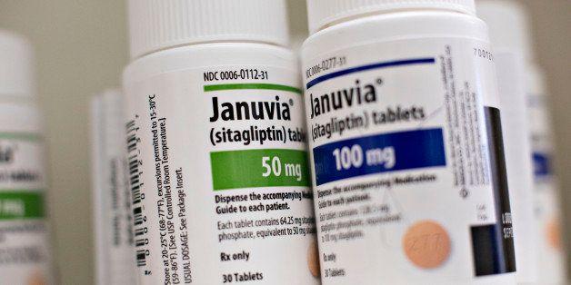 Merck & Co. Inc. Januvia brand medication, used to treat type2 diabetes, sit on a pharmacy shelf in Princeton, Illinois, U.S.