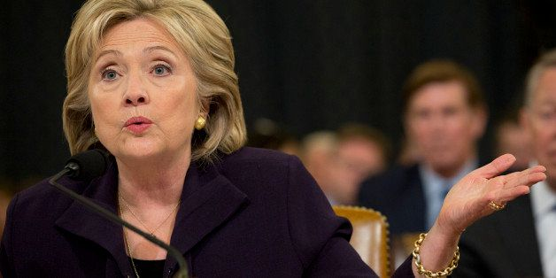 Democratic presidential candidate and former Secretary of State Hillary Rodham Clinton, speaks  final hour of a marathon test