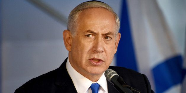 Israeli Prime Minister Benjamin Netanyahu speaks during the official memorial ceremony marking the 20th anniversary of the as